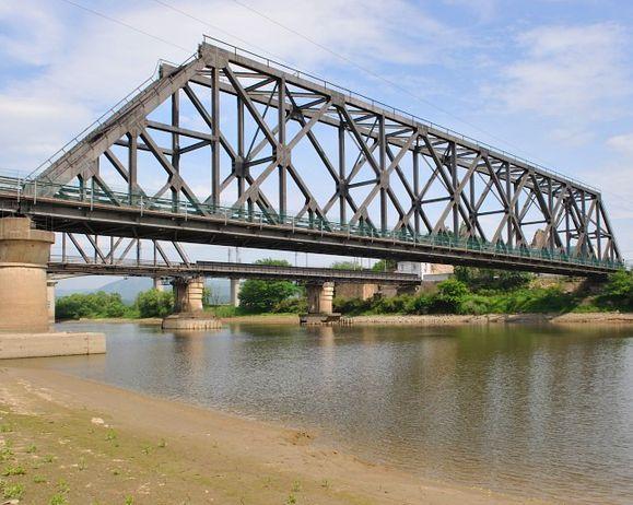 危险源辨识     钢桁梁桥跨过既有线横移施工因为其存在的特殊图片